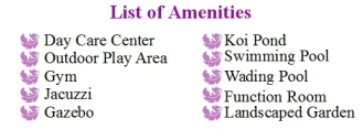 One Lilac Place List of Amenities