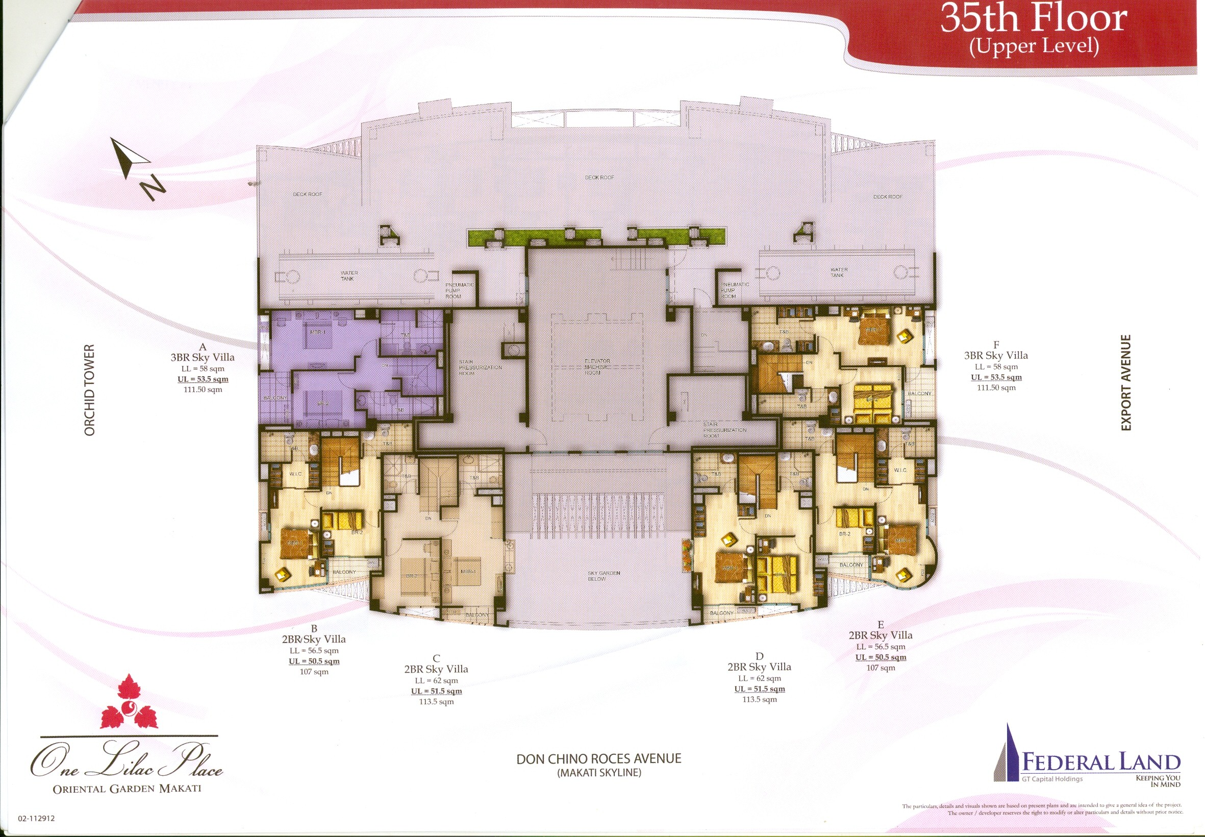 floor plan | one lilac place at oriental garden makati